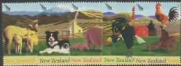 NZ SG2757-61 Chinese New Year (Year of the Rooster): Farmyard Animals set of 5
